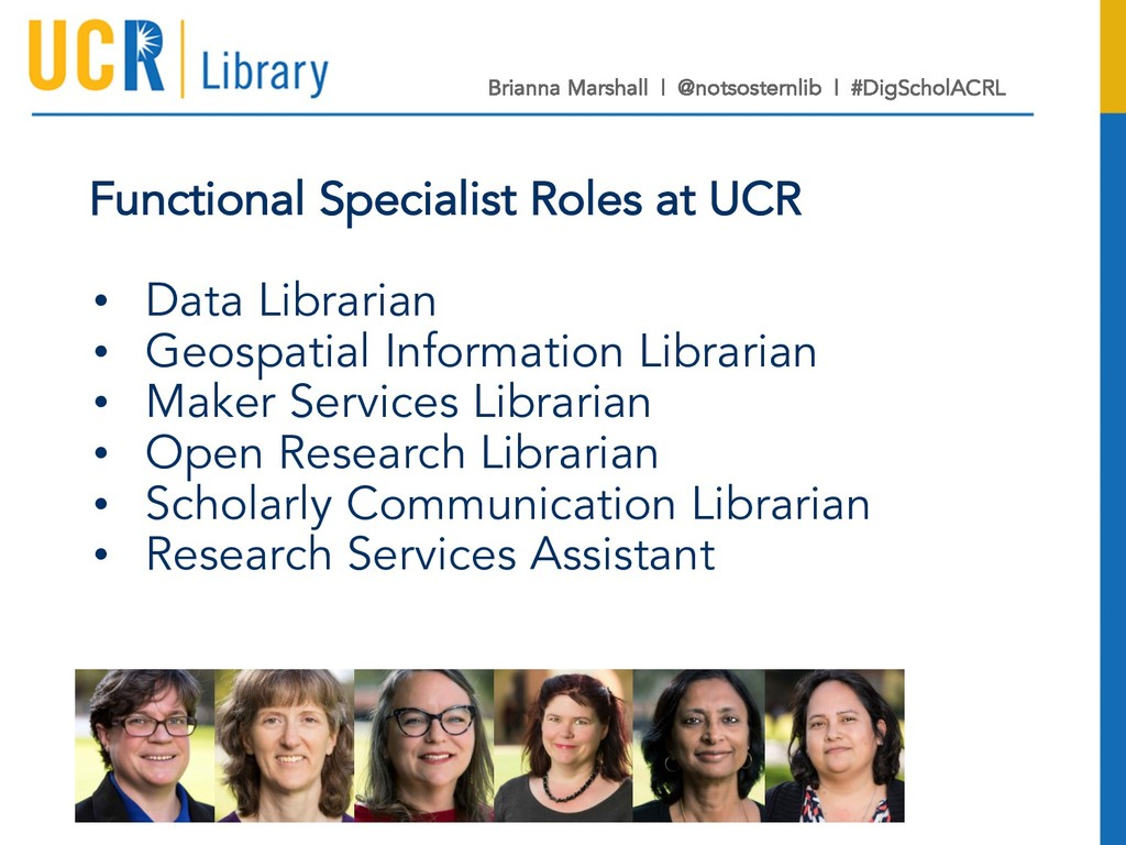 Functional Specialist Roles at UCR • Data Libra...