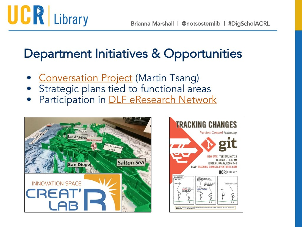 Department Initiatives & Opportunities • Conver...