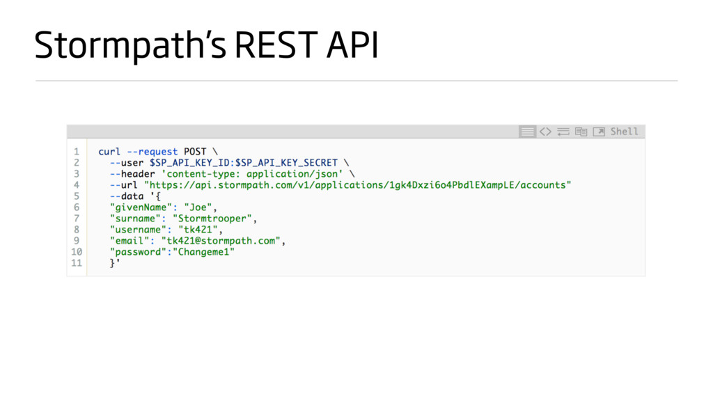 Stormpath's REST API
