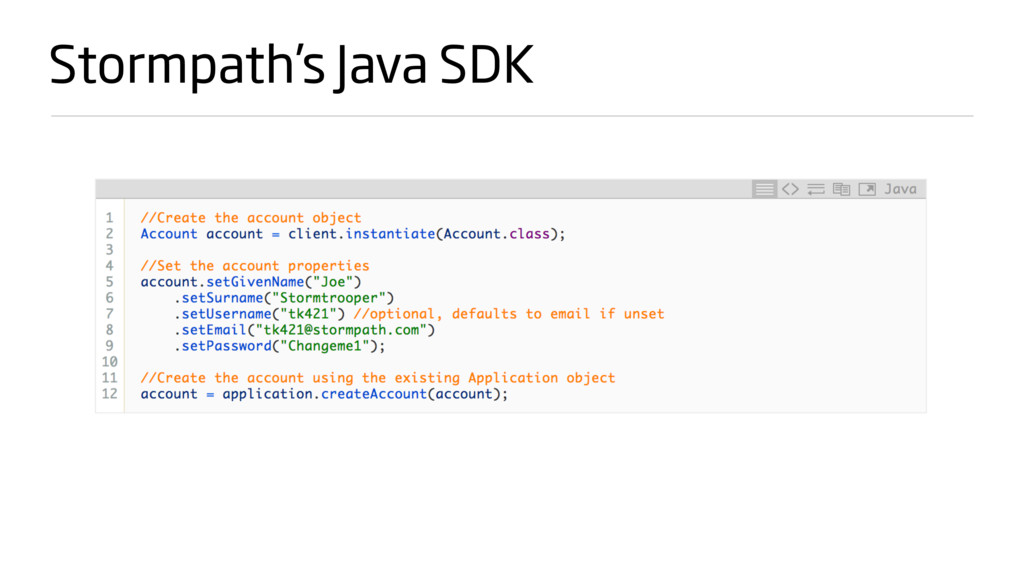 Stormpath's Java SDK