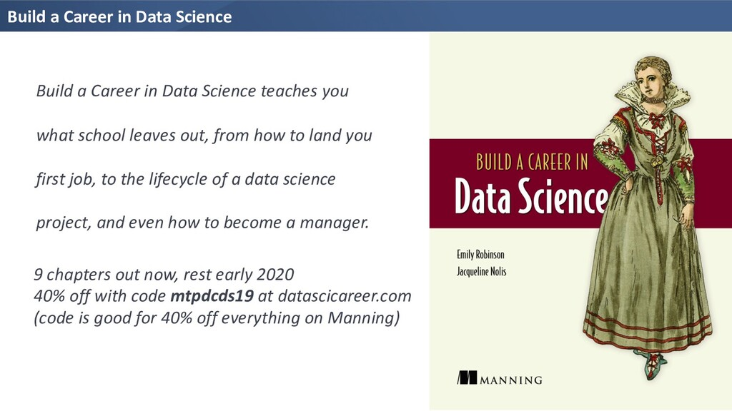 Build a Career in Data Science 9 chapters out n...