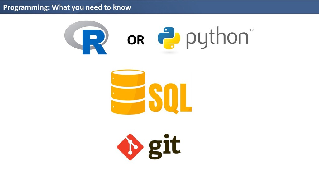 Programming: What you need to know OR