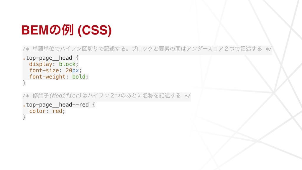 BEMͷྫ (CSS) /* ୯ޠ୯ҐͰϋΠϑϯ۠ΓͰهड़͢ΔɻϒϩοΫͱཁૉͷؒΞϯμʔ...