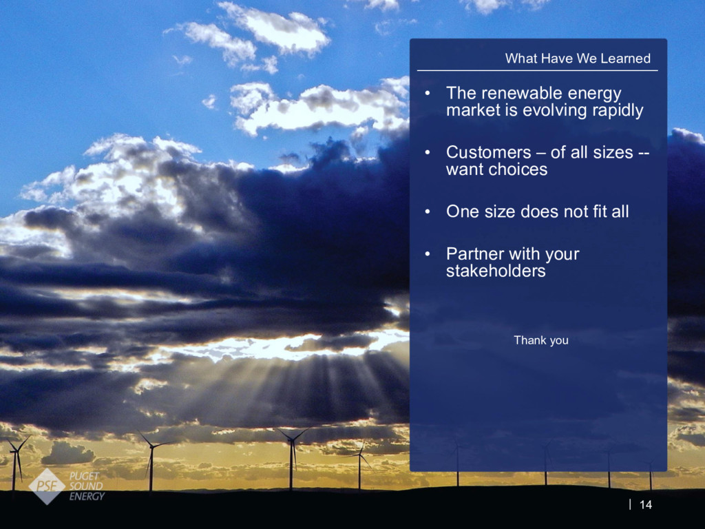 14 • The renewable energy market is evolving ra...