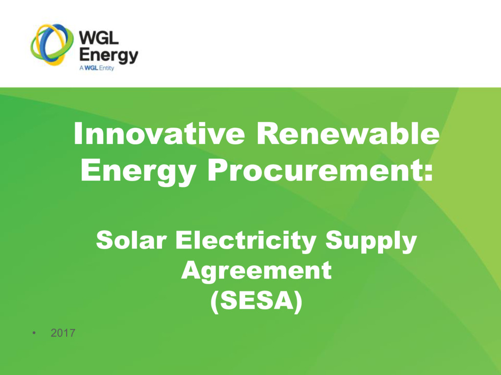 Innovative Renewable Energy Procurement: Solar ...