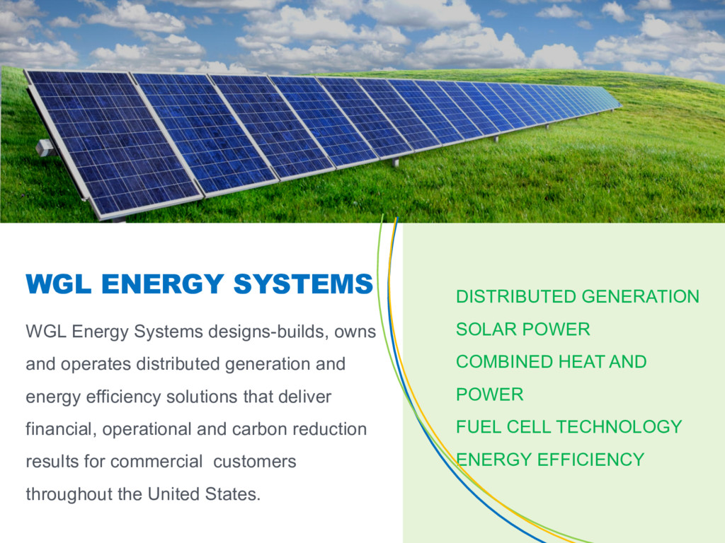 WGL Energy Systems designs-builds, owns and ope...