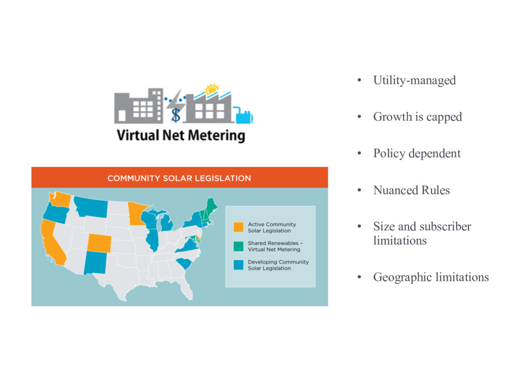 Community solar + virtual net metering • Utilit...