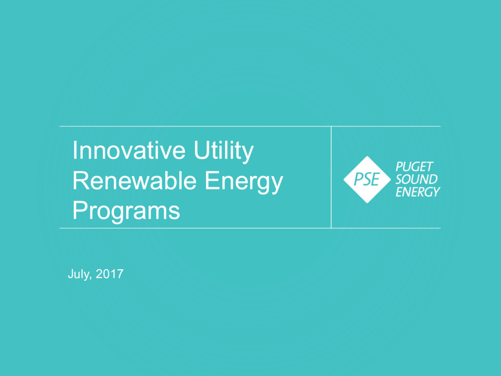 Innovative Utility Renewable Energy Programs Ju...
