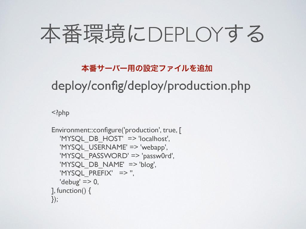 ຊ൪ڥʹDEPLOY͢Δ deploy/config/deploy/production.ph...