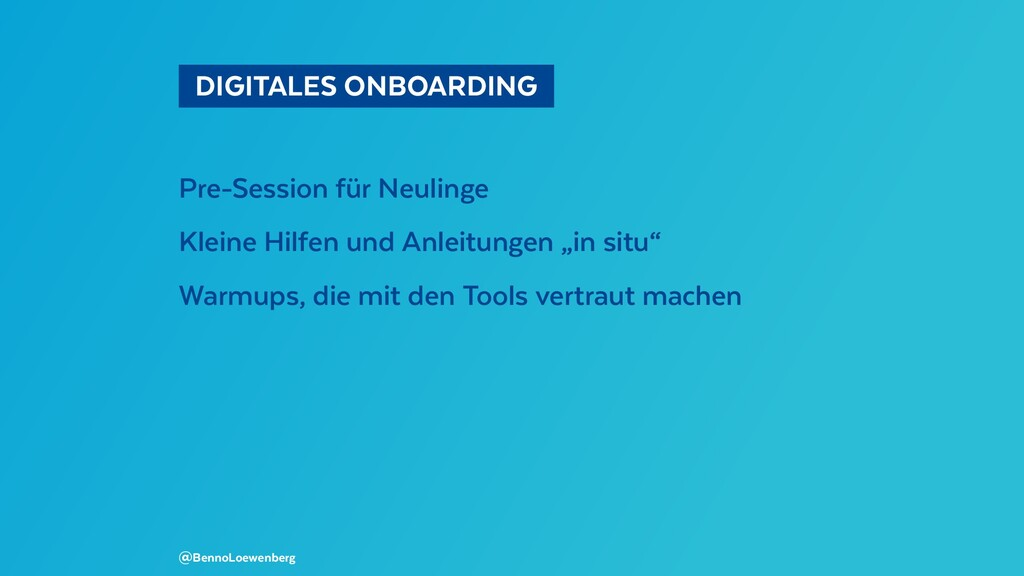 DIGITALES ONBOARDING  Pre-Session für Neuling...