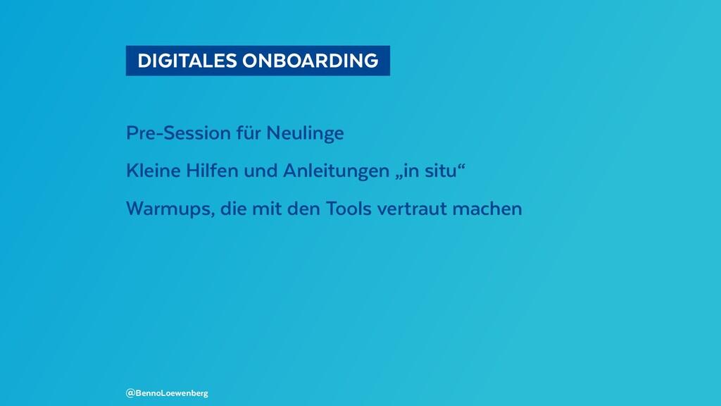 DIGITALES ONBOARDING Pre-Session für Neuling...