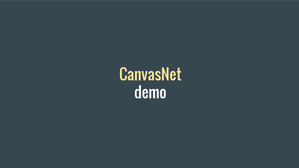 CanvasNet demo