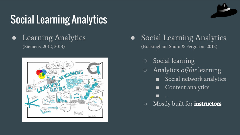 Social Learning Analytics ● Learning Analytics ...