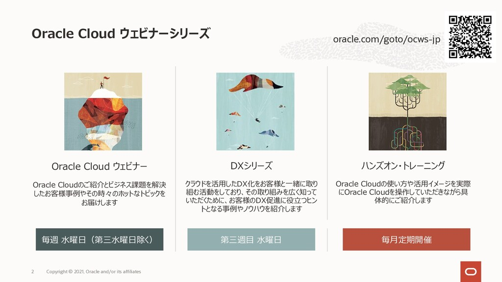 Oracle Cloud ウェビナー Oracle Cloudのご紹介とビジネス課題を解決 し...