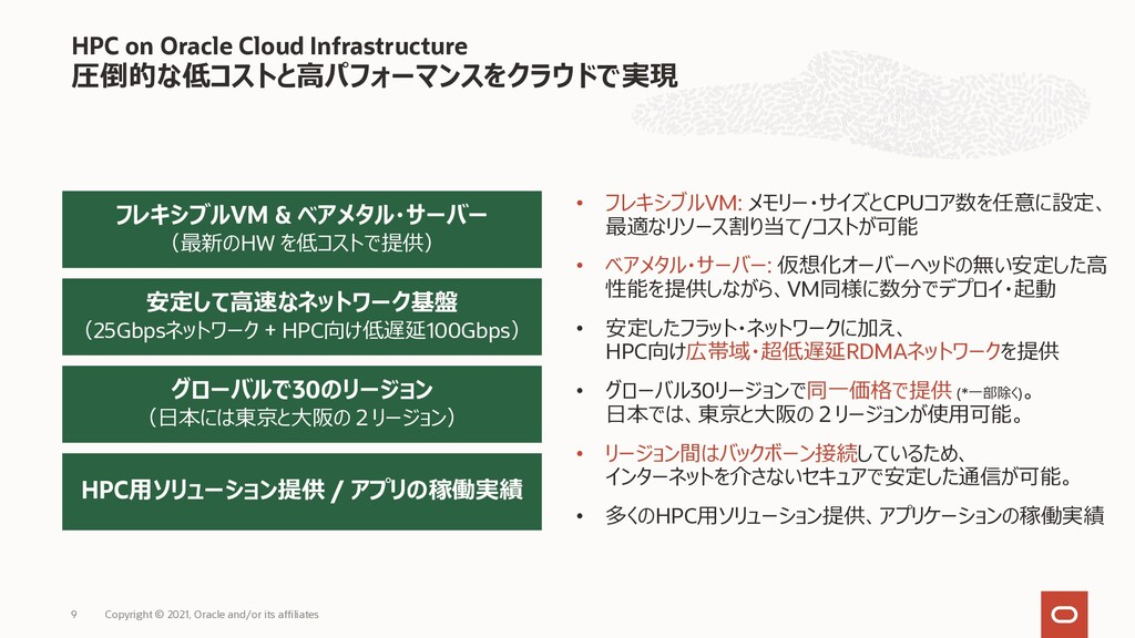 HPC on Oracle Cloud Infrastructure 圧倒的な低コストと⾼パフ...