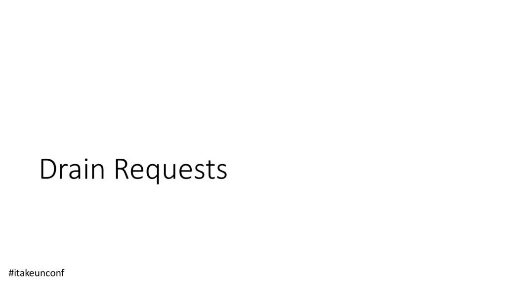 Drain Requests #itakeunconf