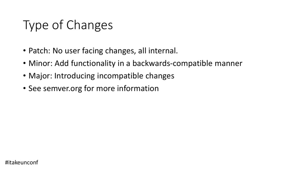 Type of Changes • Patch: No user facing changes...