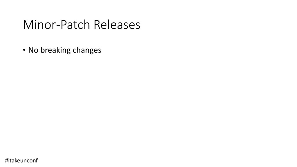 Minor-Patch Releases • No breaking changes #ita...