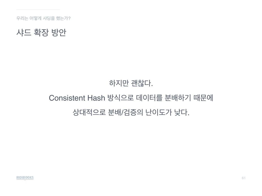61 ࢥ٘ ഛ ߑউ ೞ݅ ҡଳ. Consistent Hash ߑधਵ۽ ؘఠܳ ...