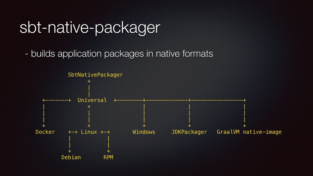 sbt-native-packager - builds application packag...