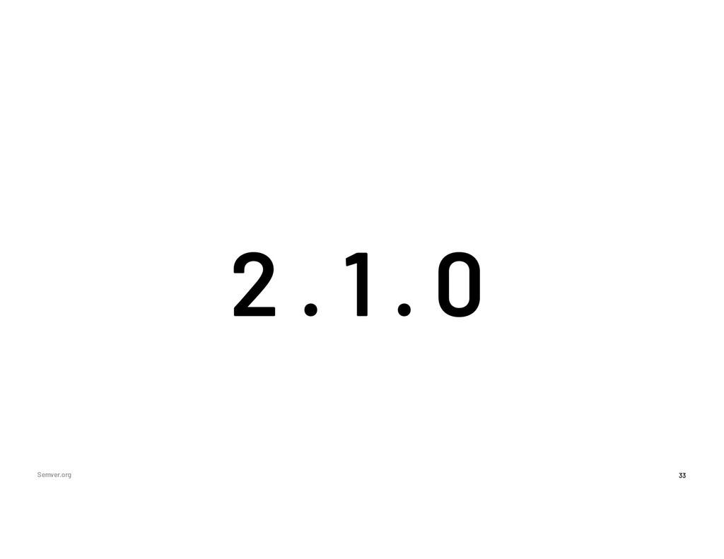 33 Semver.org 2 0 1 . .