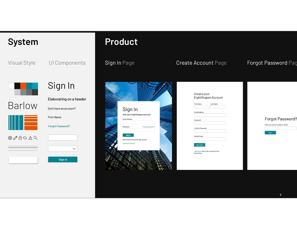 5 Barlow Visual Style UI Components System Sign...