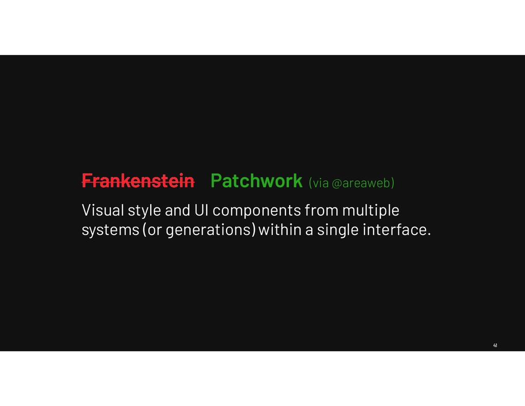 41 Frankenstein Visual style and UI components ...