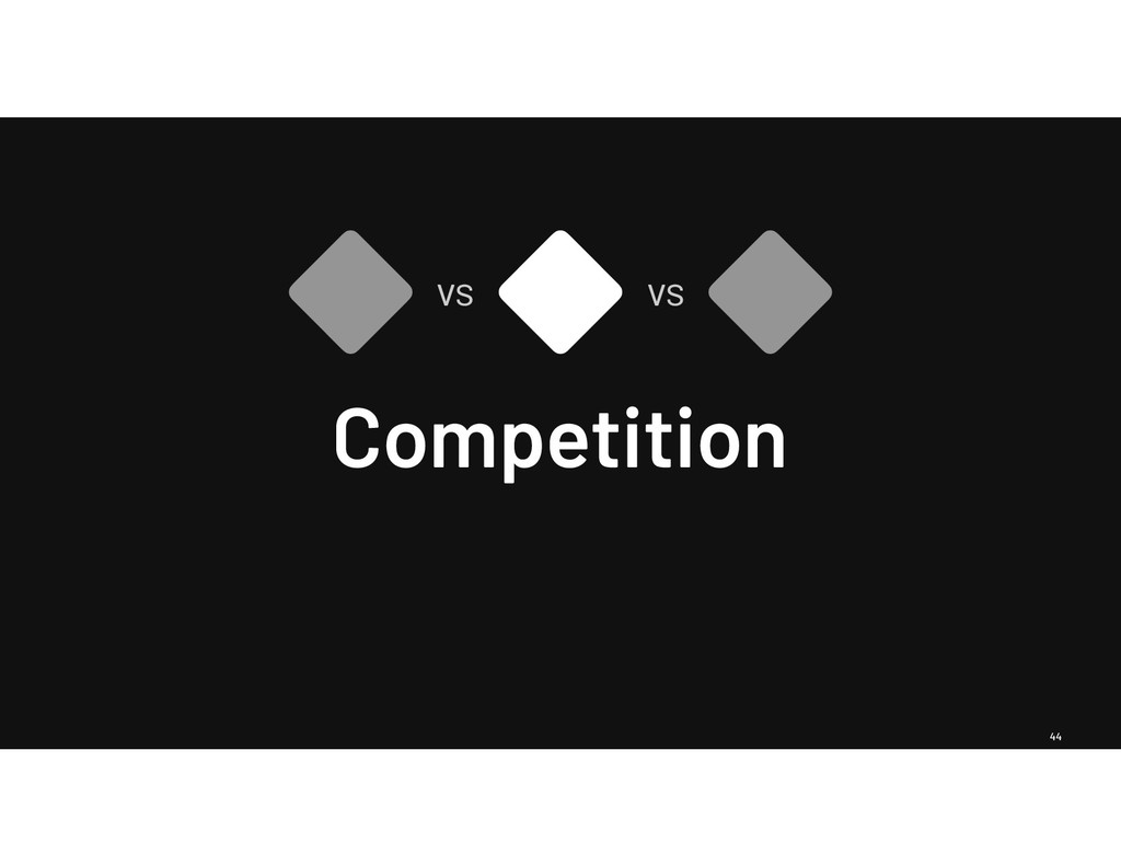 44 Competition vs vs