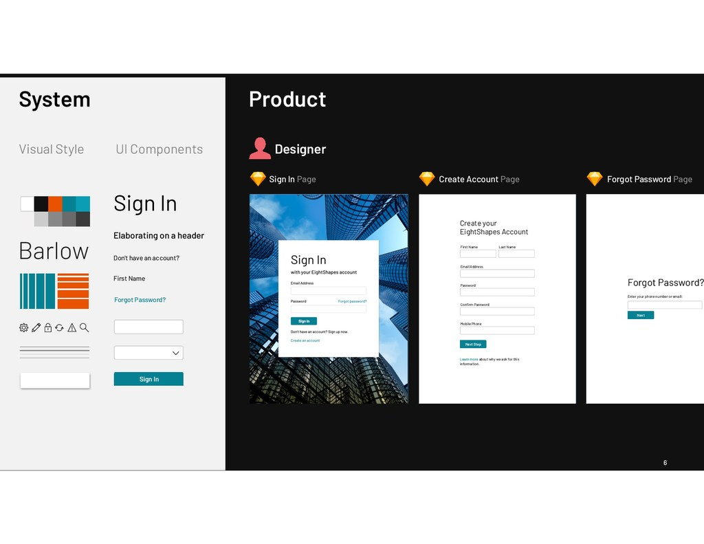 6 Barlow Visual Style UI Components System Sign...
