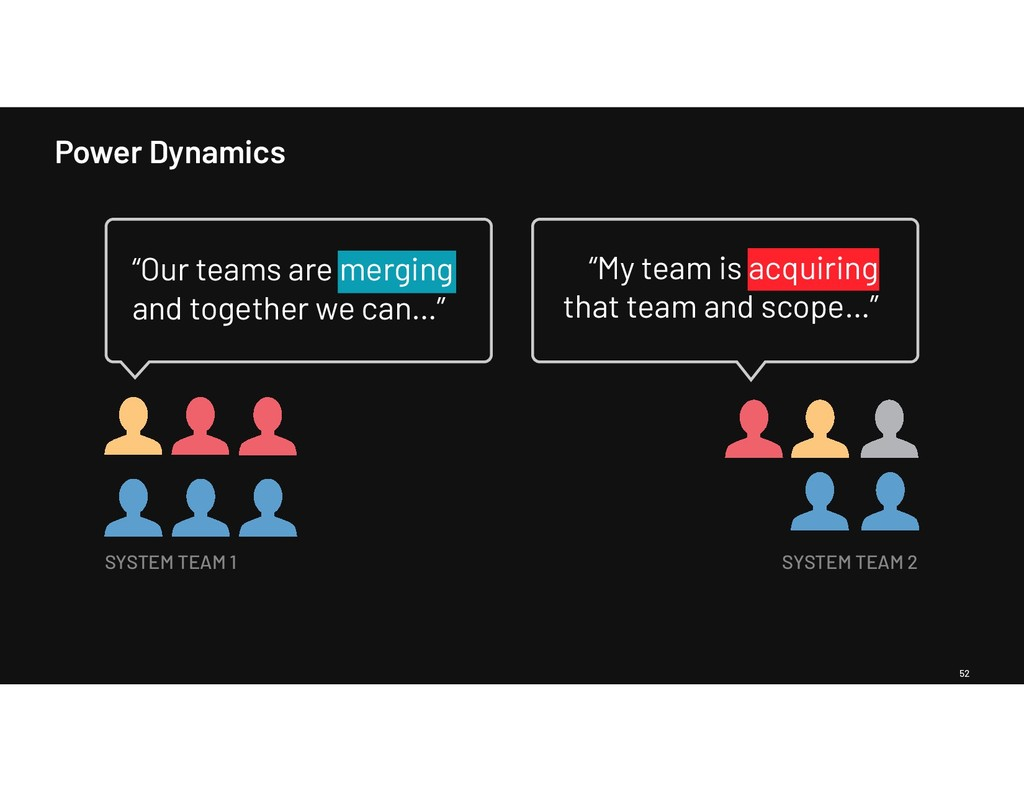 """Power Dynamics 52 """"Our teams are merging and to..."""