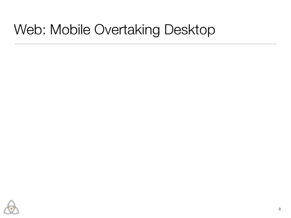 3 Web: Mobile Overtaking Desktop