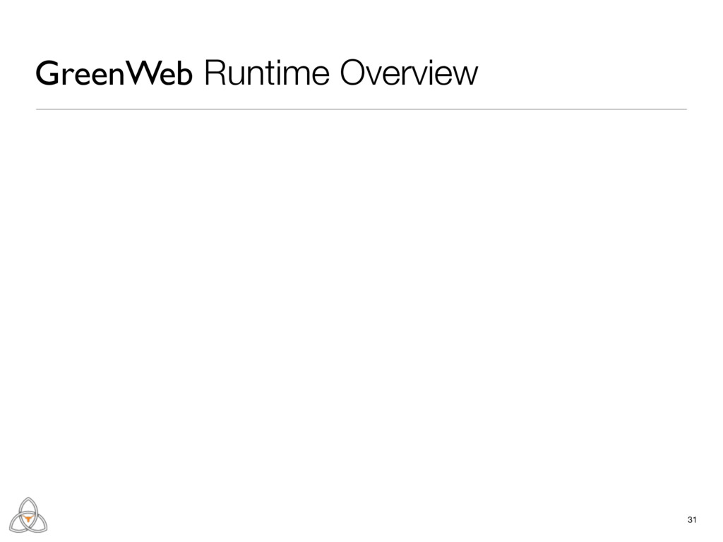 31 GreenWeb Runtime Overview