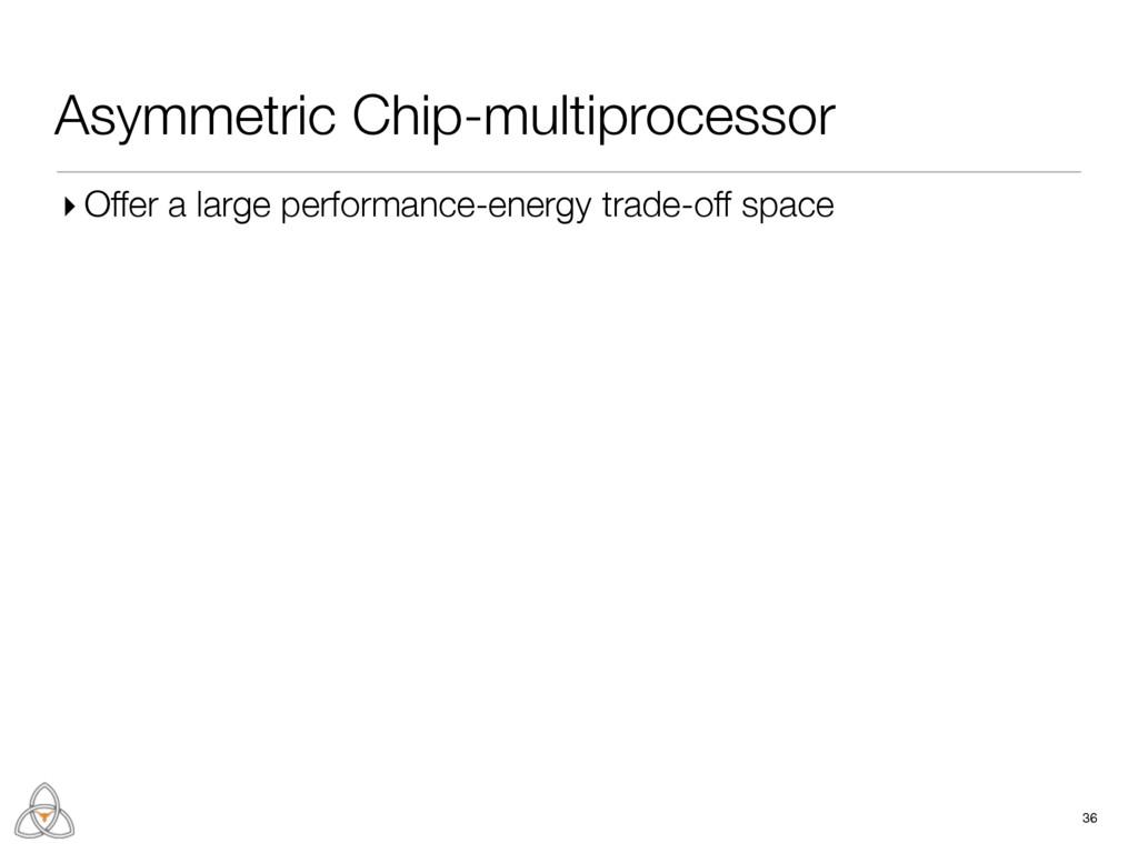 Asymmetric Chip-multiprocessor 36 ▸ Offer a lar...