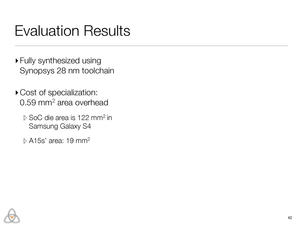 Evaluation Results 62 ▸Fully synthesized using ...