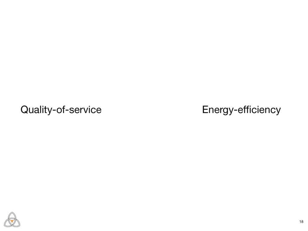 Quality-of-service Energy-efficiency 18