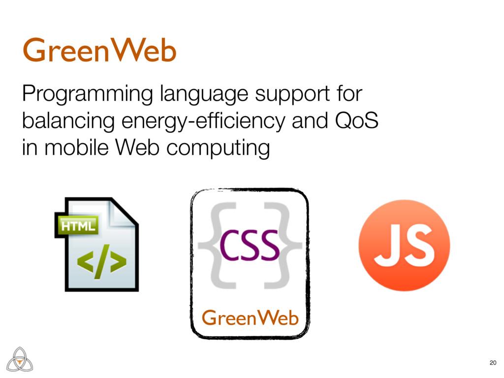 GreenWeb 20 GreenWeb Programming language suppo...