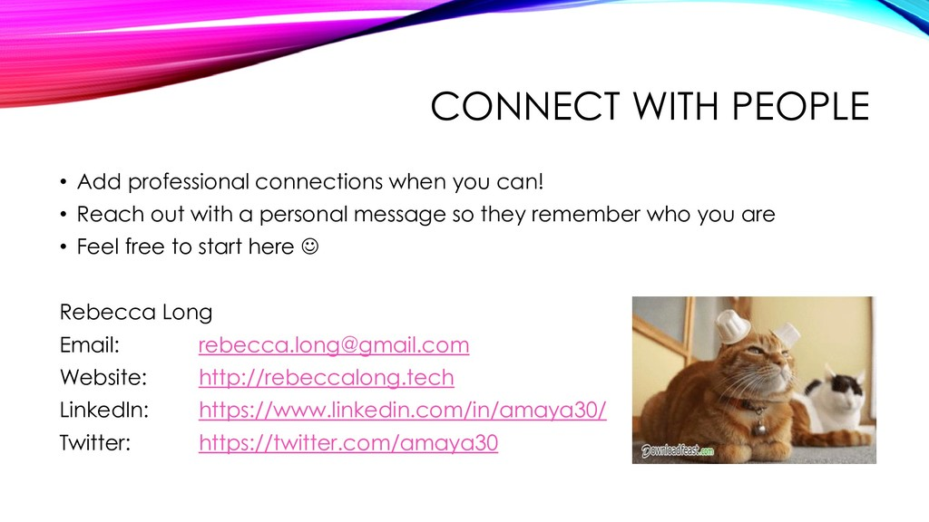 CONNECT WITH PEOPLE • Add professional connecti...