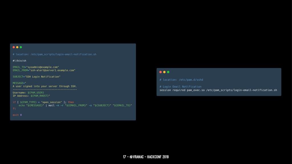 17 — @vranac - HackConf 2019