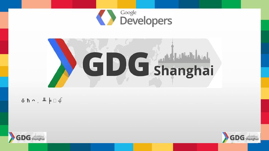 上 海 谷 歌 开 发 者 社 区