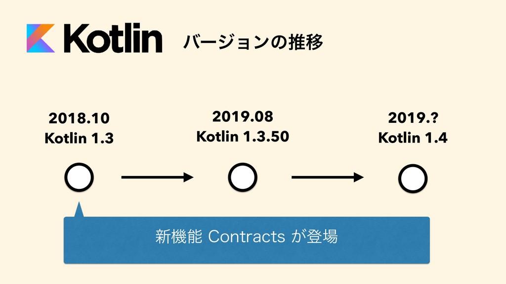 2019.08 Kotlin 1.3.50 2018.10 Kotlin 1.3 2019.?...