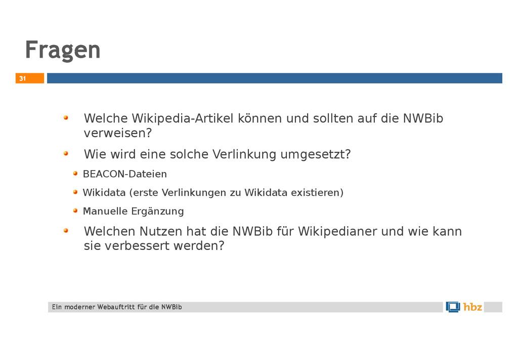 Fragen 31 Welche Wikipedia-Artikel können und s...