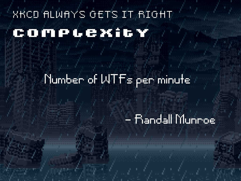 Number of WTFs per minute - Randall Munroe C O ...