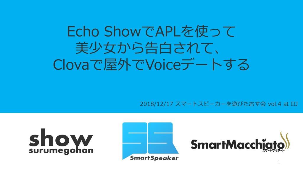 2018/12/17 スマートスピーカーを遊びたおす会 vol.4 at IIJ Echo S...