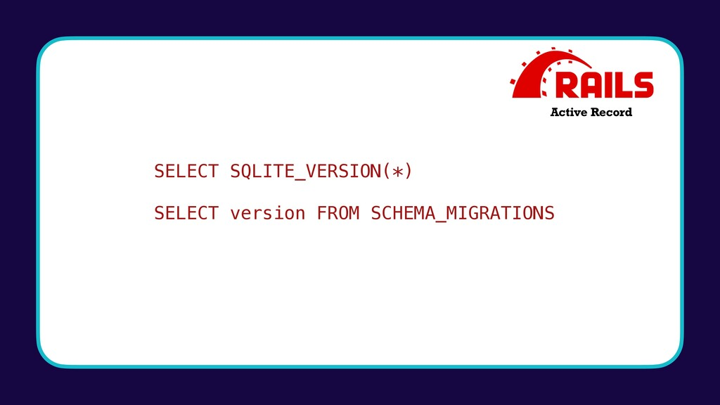 SELECT SQLITE_VERSION(*) SELECT version FROM SC...