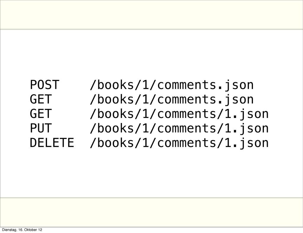 POST /books/1/comments.json GET /books/1/commen...