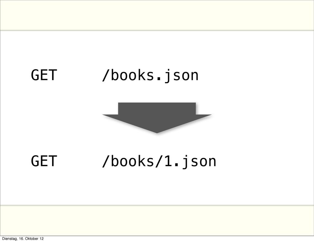 GET /books.json GET /books/1.json Dienstag, 16....
