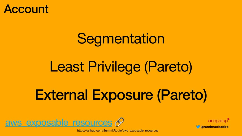 @ramimacisabird Segmentation Account Least Priv...