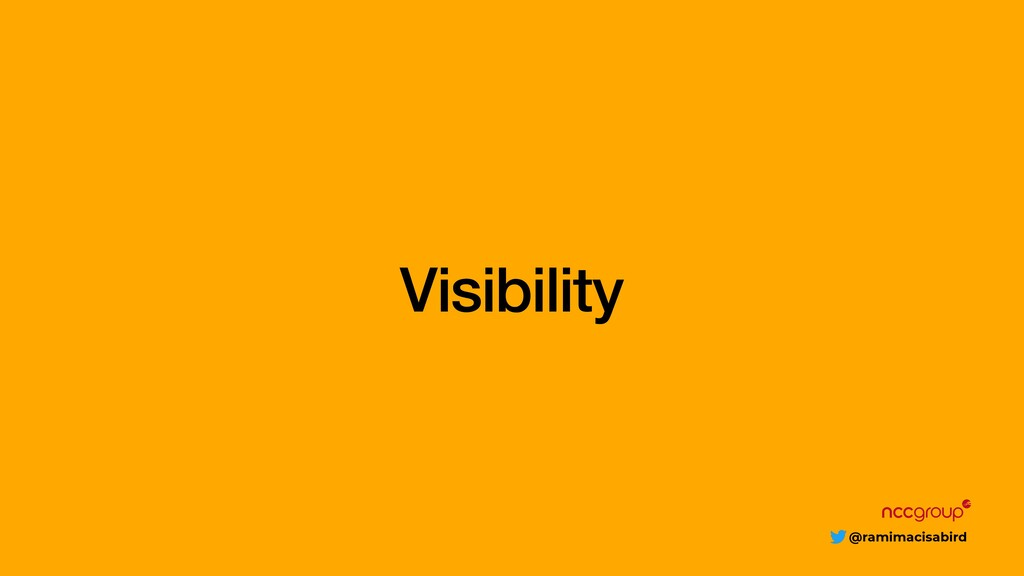 @ramimacisabird Visibility