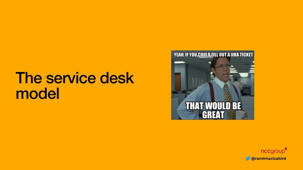@ramimacisabird The service desk model