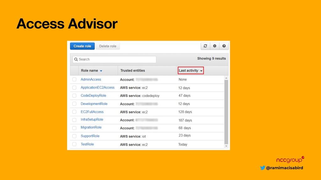 @ramimacisabird Access Advisor